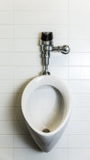 urinal on white tile phone background