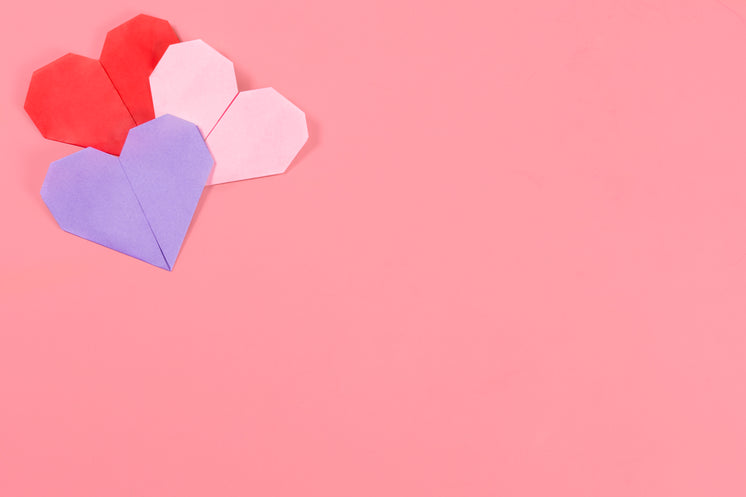 Valentines Hearts On Pink