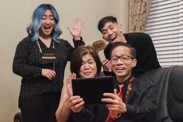 video calling family and friends at new year