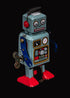 Browse Free HD Images of Vintage Robot Black Background Portrait