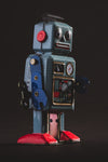 vintage robot view from low angle