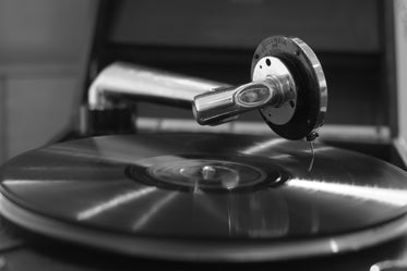 vinyl record on a record player