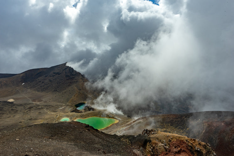 Volcanic Hills And Green Pools