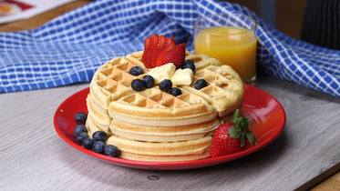 Picture of Waffle Breakfast - Free Stock Photo