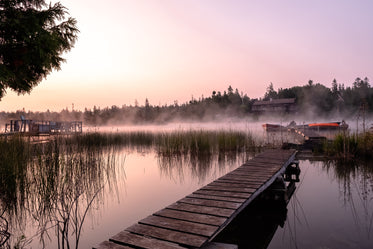 Free Warm Glowing Foggy Lake Image: Browse 1000s of Pics