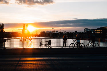 watching the sunset over berlin