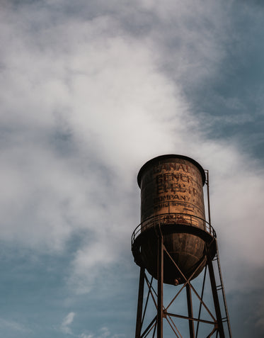 water tower looking over the landscape