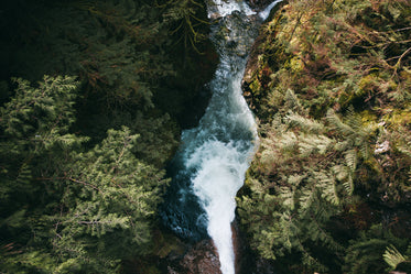 waterfall from above
