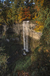 waterfall over canadian escarpment in fall