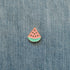 watermelon slice enamel pin denim