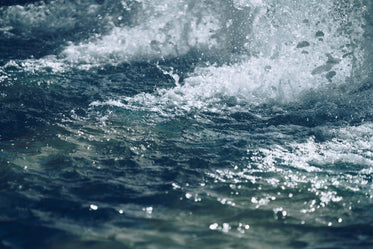 watery waves crashing