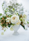 wedding bouquet on table