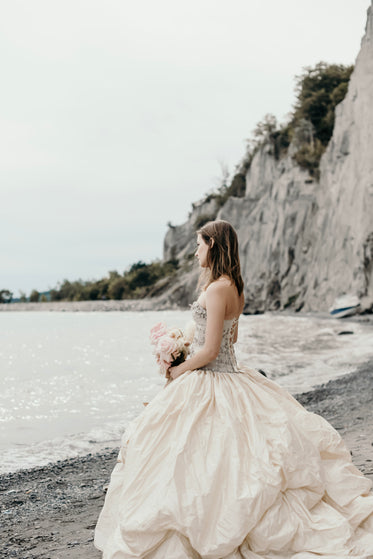 wedding day by the beach