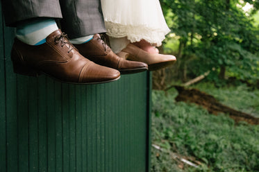 wedding day photo of shoes