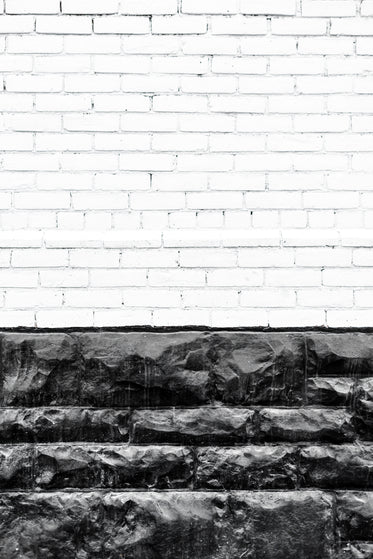 white and black stone wall