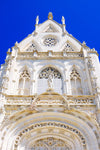 white church and blue sky