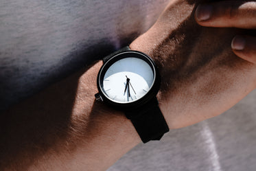 white faced watch