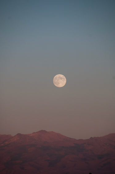 white full moon sits in the middle of the frame