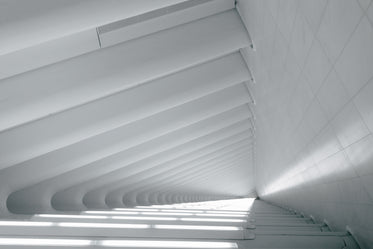 white linear angled architecture