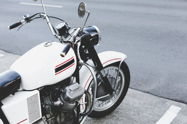 white striped motorcycle