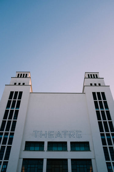 white theater building