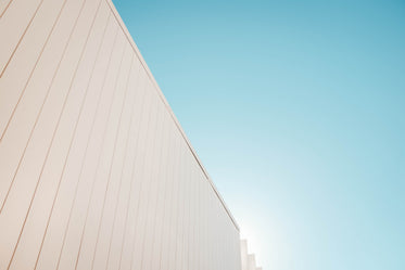 white wall and blue sky