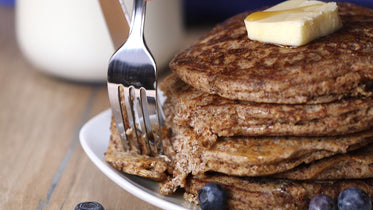 whole grain healthy pancakes