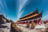wide angle chinese temple