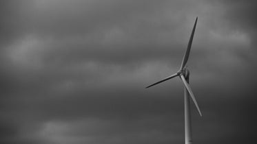 wind power generator on cloudy day