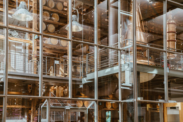 High Res Wine Barrel Warehouse With Glass Walls Picture — Free Images