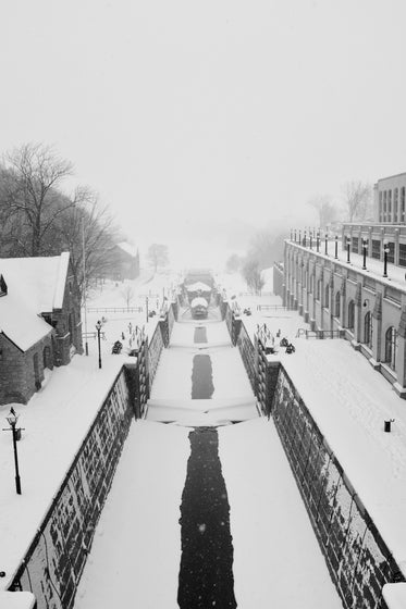 winter canal locks