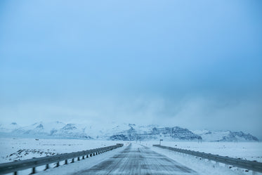 winter iceland road
