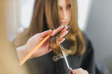Picture of Woman Getting Hair Cut At Salon — Free Stock Photo
