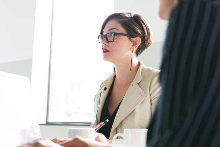 Woman In Glasses At Meeting