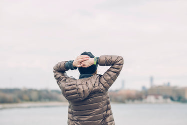 woman looking at skyline