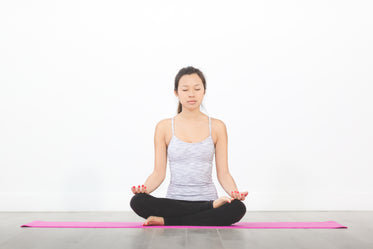 woman meditating hip opener