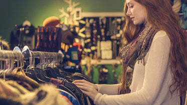 Picture of Woman Shopping For Clothes - Free Stock Photo