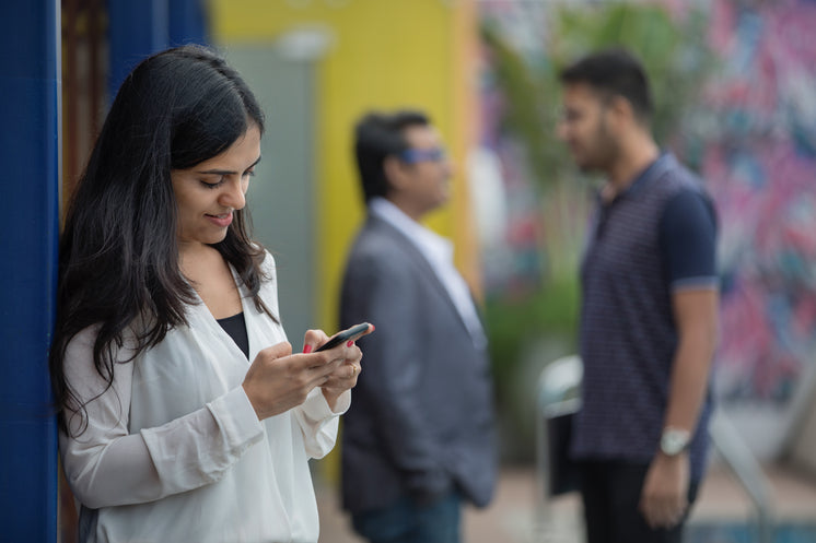 Woman Texting In India