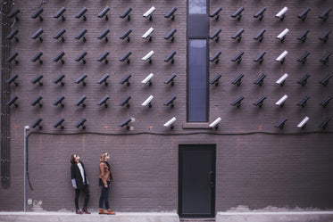 women with surveillance cameras