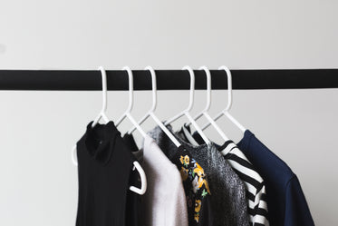 womens fashion on hangers