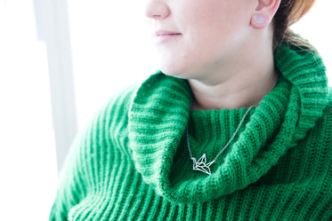 Picture of Women's Green Turtleneck - Free Stock Photo
