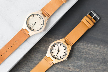 wood leather watches