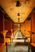 wooden vintage train car
