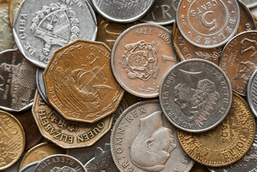 Picture of World Coins - Free Stock Photo