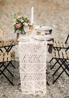 woven linens on table