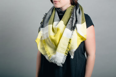 yellow and grey scarf product