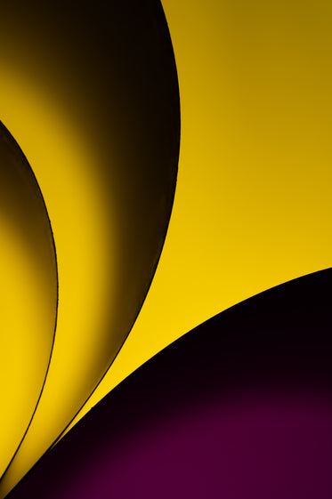 yellow and purple in folded abstract pattern
