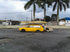 yellow car in tropics