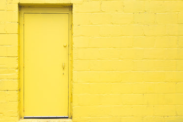 yellow door wall