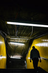 yellow walls in subway exit